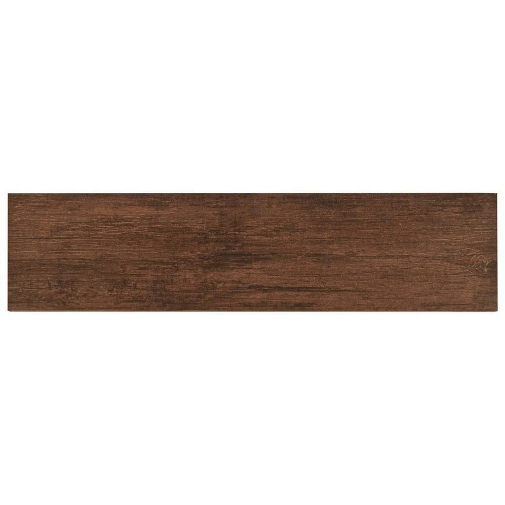 Anticho Chestnut Wood Plank Porcelain Tile   6in. X 24in. | (outdoor)