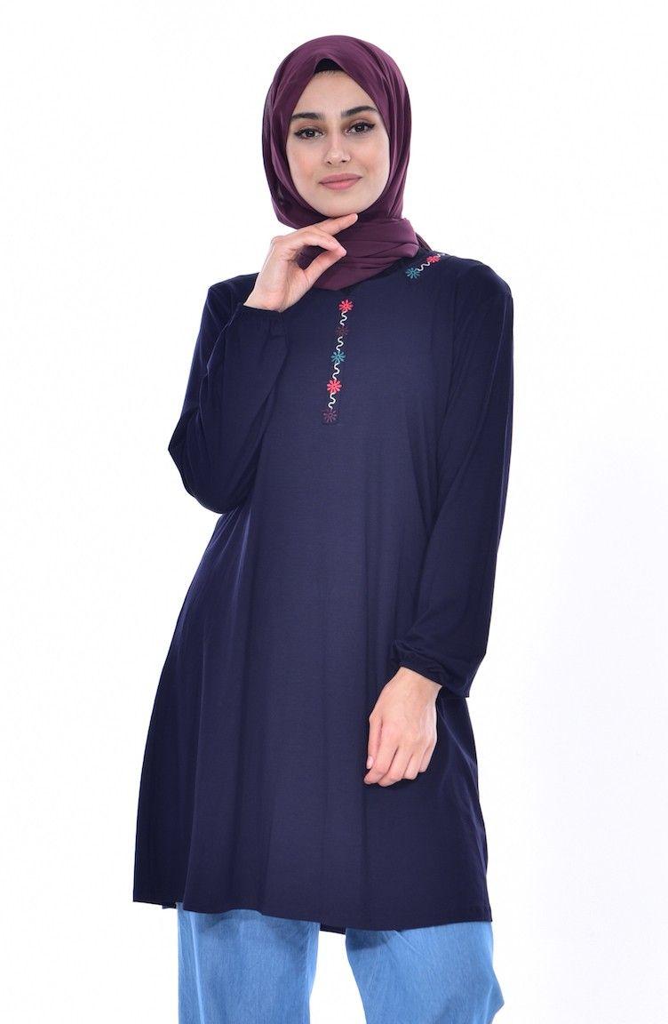 651cea34d2839 Siyah Tunik Modelleri ve Fiyatları-Tesettür Giyim-Sefamerve   Kadın ...