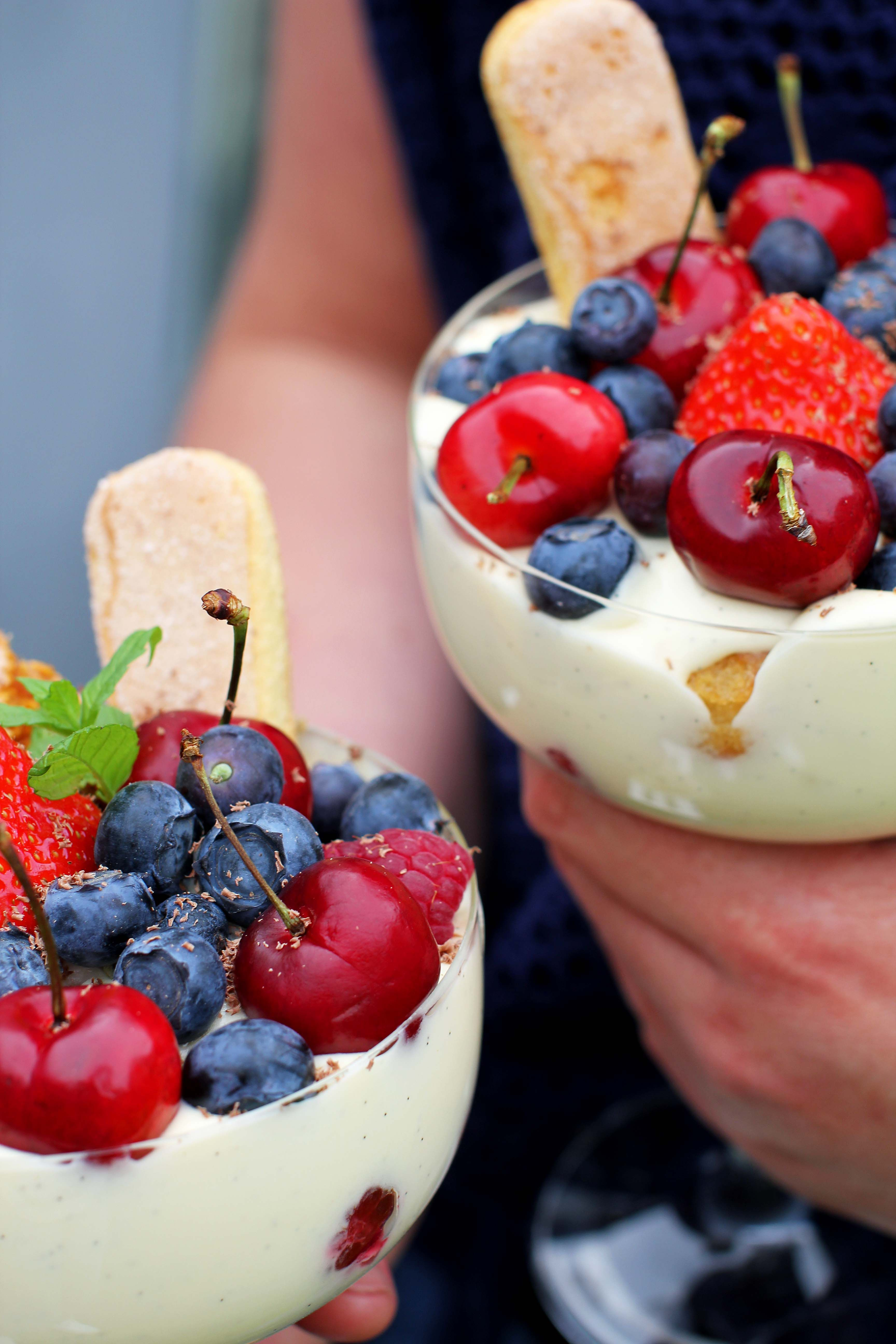 The Perfect Summer Dessert Rose Wine Tiramisu With Fresh Fruit And Berries Wine Desserts Desserts Dessert Recipes