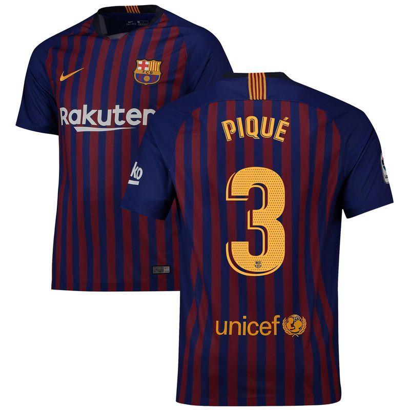 93c489a20 Gerard Piqué Barcelona Nike 2018/19 Home Replica Stadium Player Jersey –  Blue