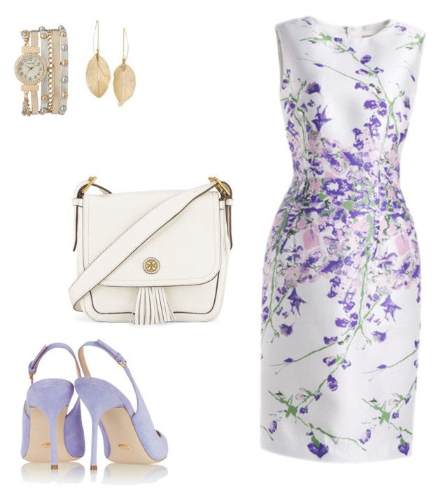 """pastel"" by tameeks on Polyvore featuring Tory Burch, Sergio Rossi, maurices and Lulu*s"