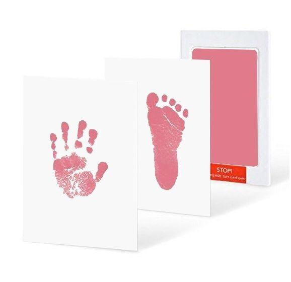 Baby Non Toxic Handprint Footprint Inkless  Souvenir Pad Kit Imprint For Infants