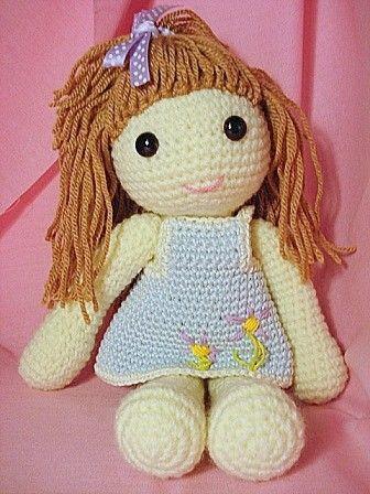 Free Crochet Amigurumi Doll Pattern Tutorials | Knitted dolls ... | 448x336