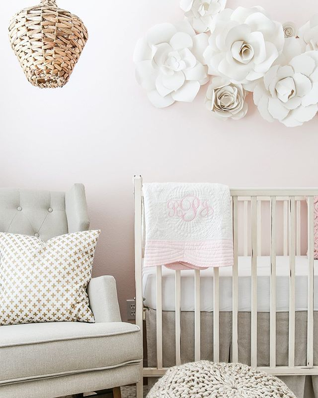 Blush Nursery With Neutral Textures: DIY Curtain Rods (Restoration Hardware Inspired