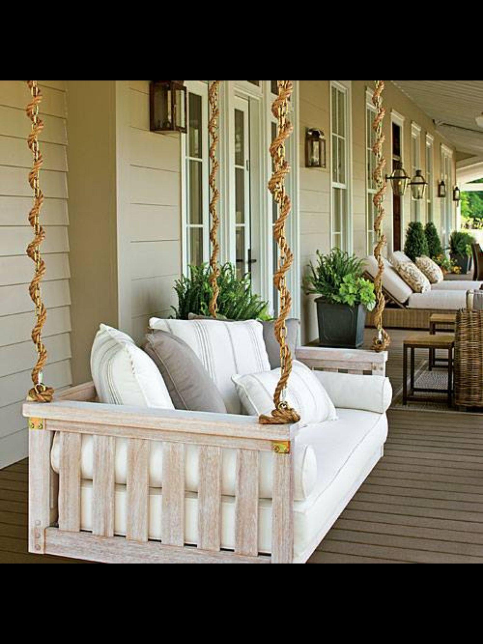 FARM PLAN wrap around porch swing love the