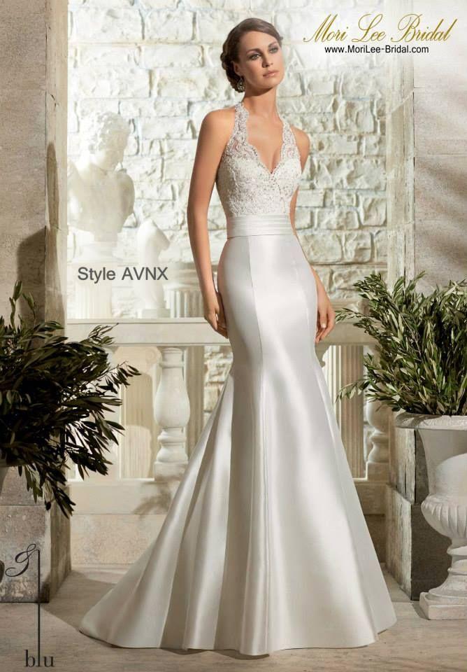 Style AVNX LARISSA SATIN WITH CRYSTAL BEADING ON ALENCON LACE Available in  Diamond White 6780e5bd86