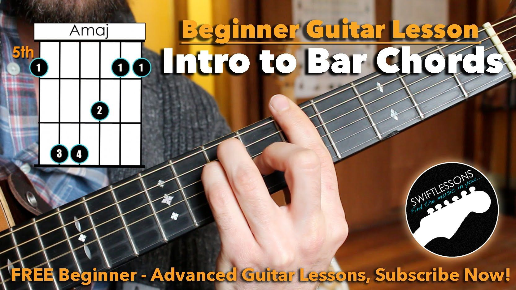 how to really play bar chords a beginner guitar tutorial guitar in 2019 guitar for. Black Bedroom Furniture Sets. Home Design Ideas