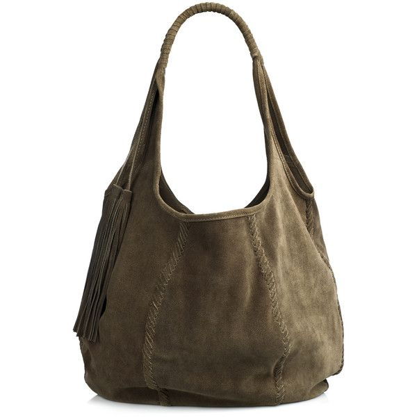 4294bd4ec4b8 Jigsaw Orla Suede Hobo Bag ( 40) ❤ liked on Polyvore featuring bags ...