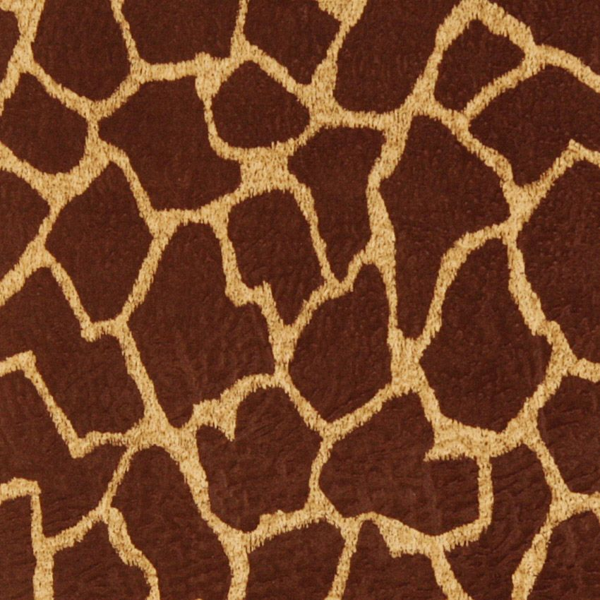Giraffe print brown upholstery fabric <3