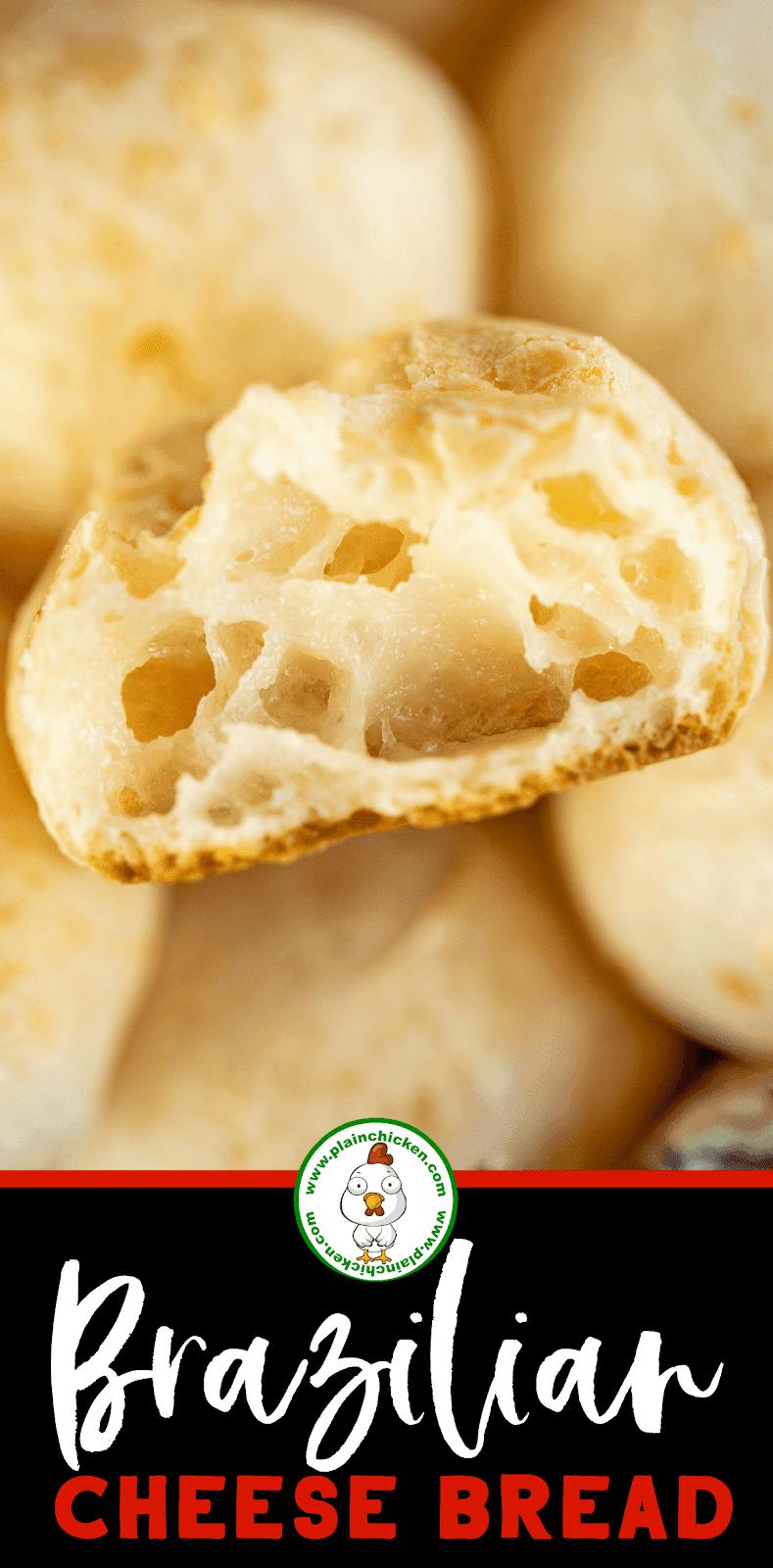 Brazilian Cheese Bread Pao De Queijo Tastes Just Like The Fancy Brazilian Steakhouse Bread Super Easy To Make Bread Easy Cake Recipes Plain Chicken Recipe