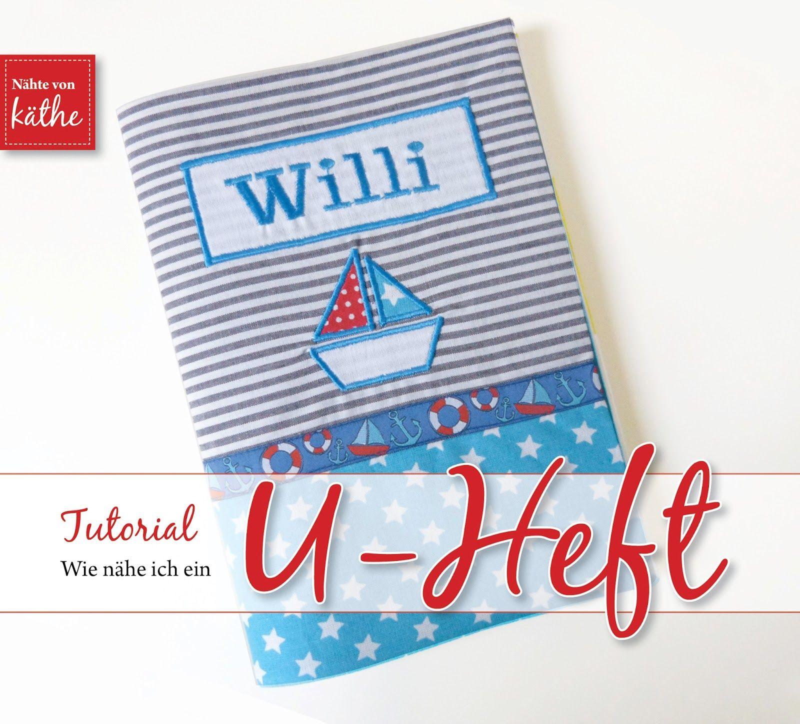 Photo of U-Heft-Hülle selber nähen – Tutorial – Nähte von Käthe