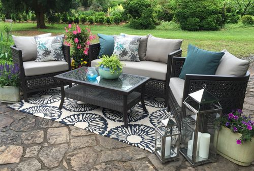 carlsbad 4 piece deep seating set ae outdoor not your grandma s rh pinterest com patio furniture carlsbad ca patio furniture near carlsbad ca