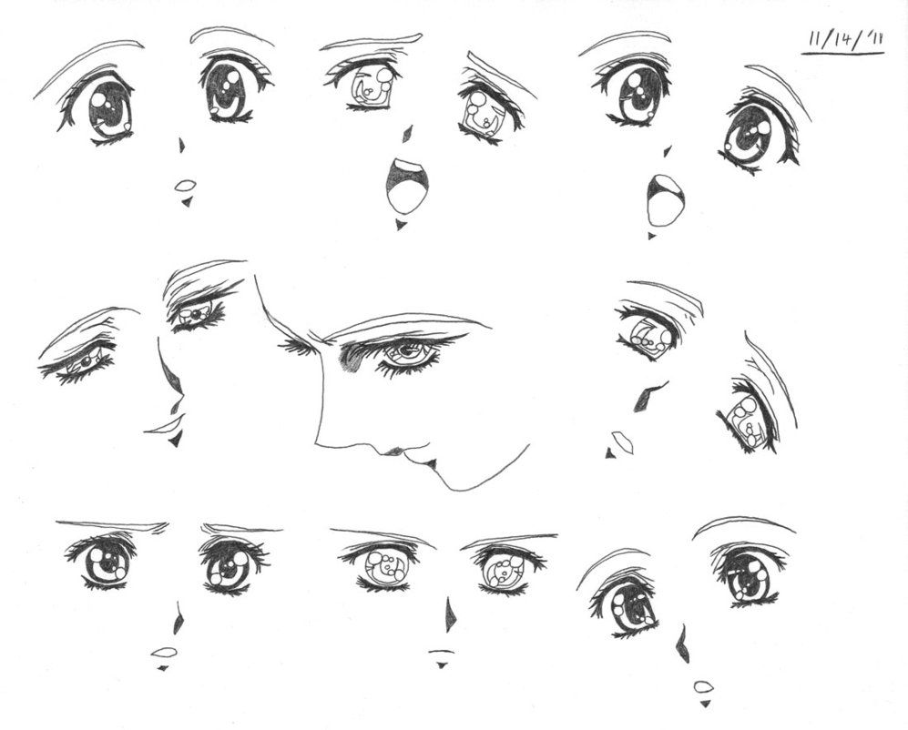 cute and easy eyes to draw | Creative Commons Attribution ...