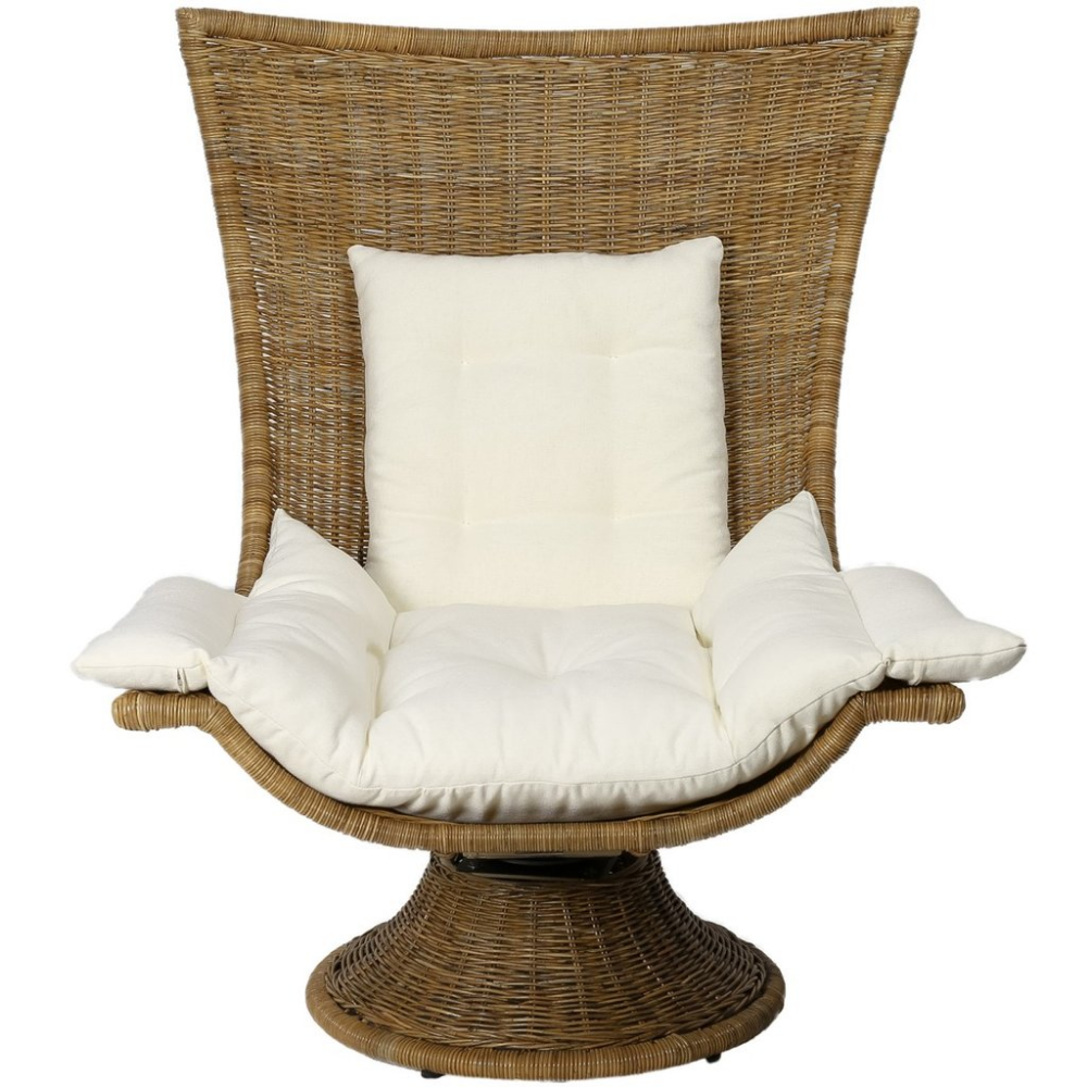Healdsburg Swivel Chair In Natural Design By Selamat Outdoor Lounge Chair Cushions Swivel Chair Chair