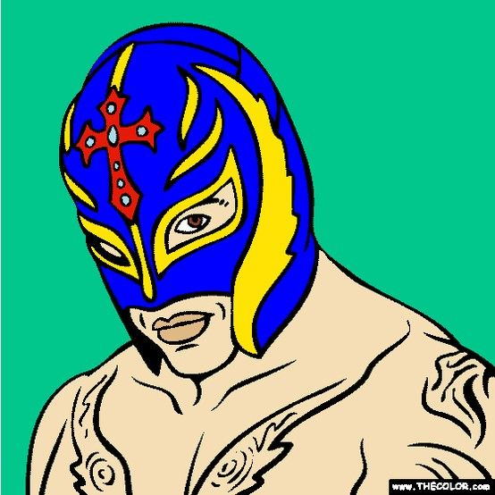 New Rey Mysterio coloring page Color WWE Mexican American Lucha