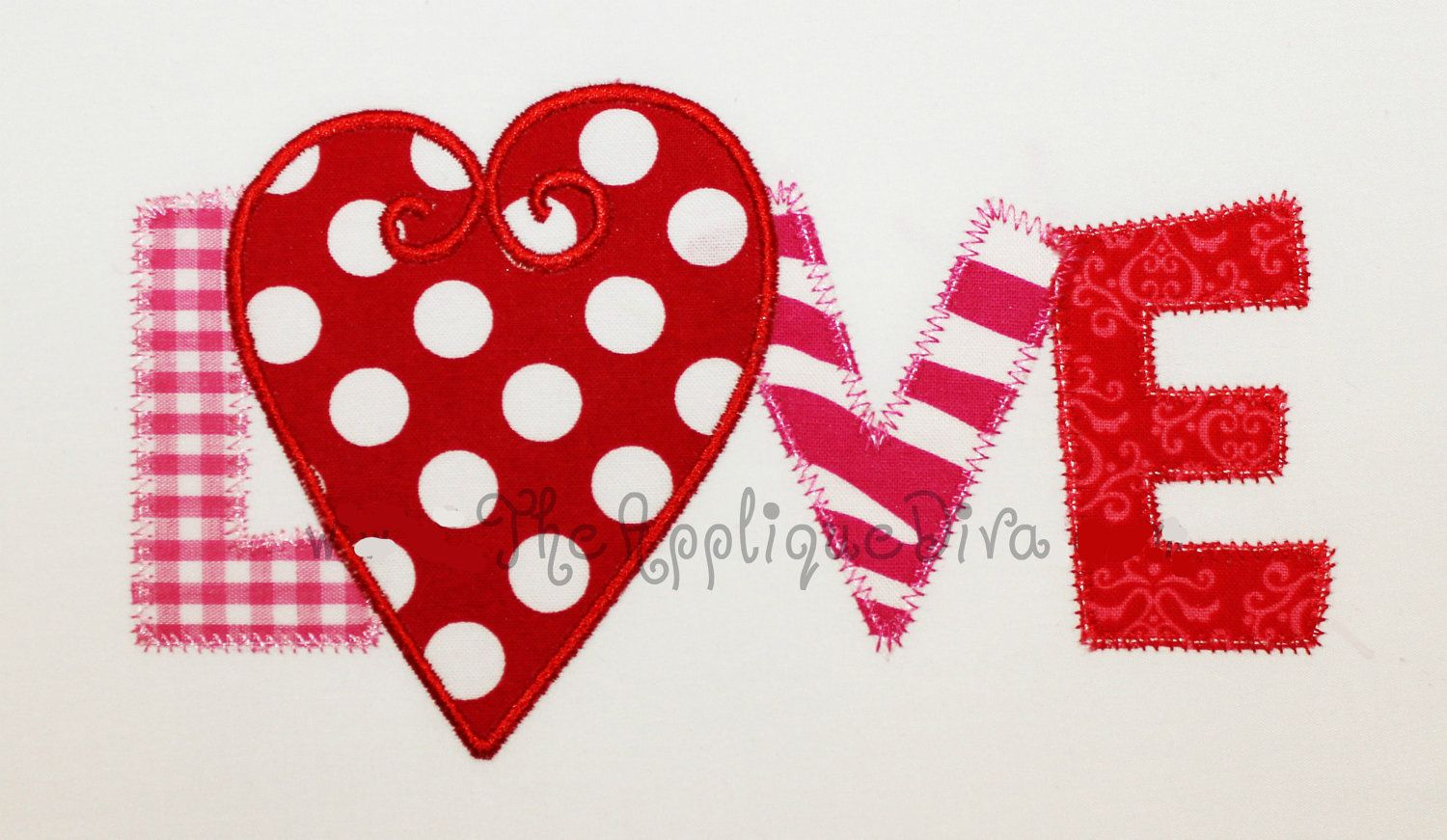 Valentine S Day Love Word Embroidery Design Machine Applique Etsy
