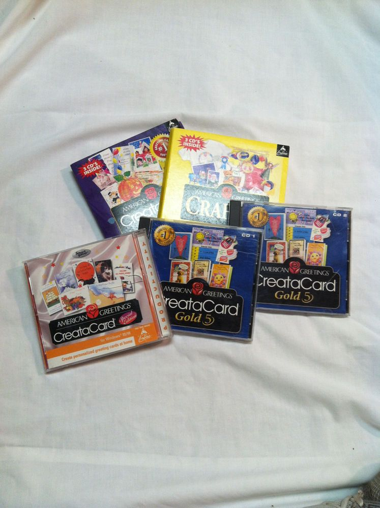 American greetings creatacard set of 9 cds for windows 9598 american greetings creatacard set of 9 cds for windows 9598 americangreetings m4hsunfo