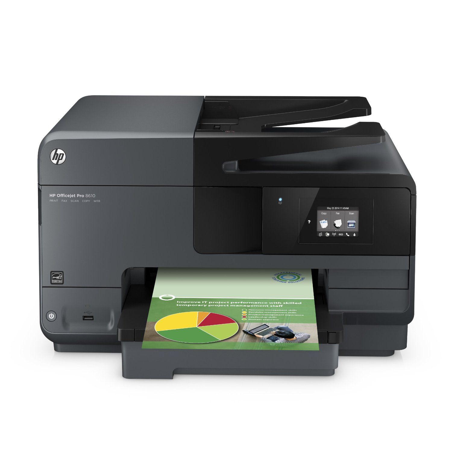 Wireless E All In One Printer Scanner Copier Fax Reliable Color Printing Is Made Easy With A Monthly Duty Cycle Of Up To 30000 Pages At Office Depot