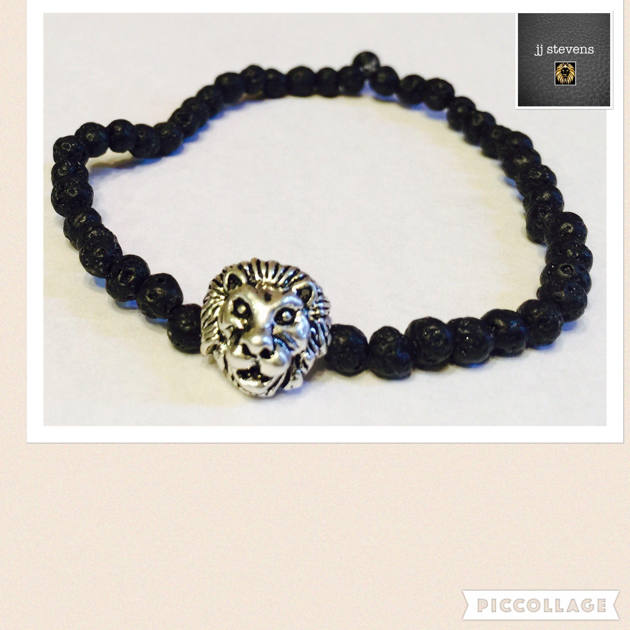 jj stevens Men's Lion Bracelet