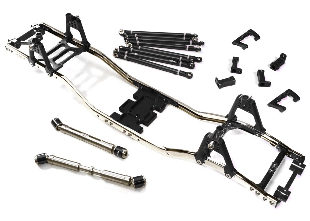 Alloy Ladder Frame Chassis Kit w/ Hop-up Combo for SCX-10, Dingo ...