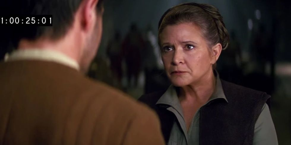 Star Wars: This deleted Force Awakens scene is Carrie Fisher at her sassiest