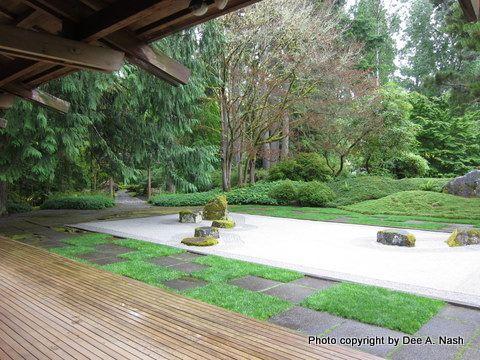 Japanese Zen space in the Bloedel Reserve.