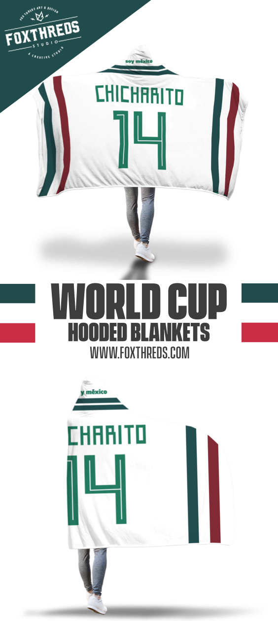 check out 0edca ba148 Javier Chicharito Mexico Away Jersey 2018 Hooded Blanket ...