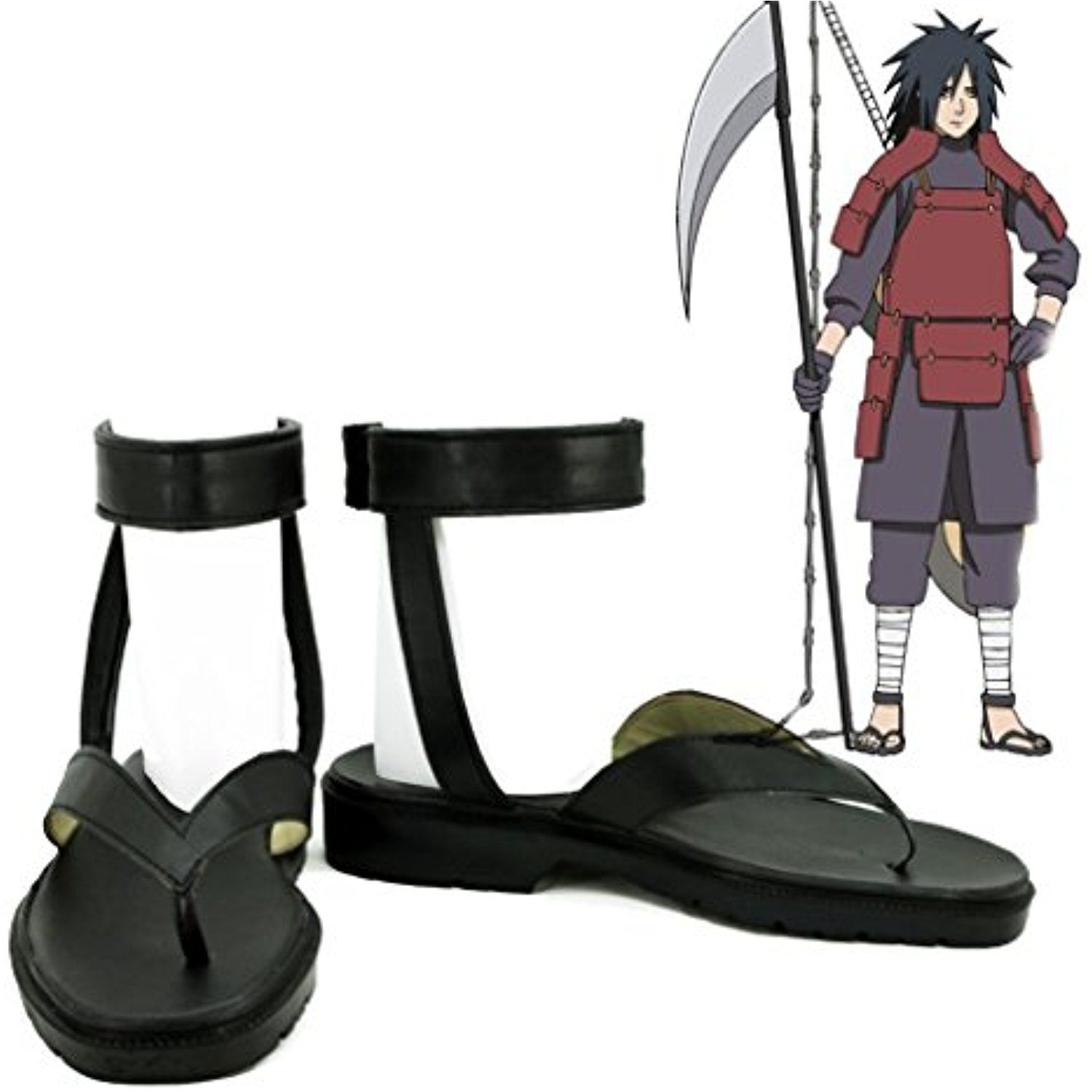 NARUTO Anime Uchiha Madara Cosplay Shoes Boots Custom Made