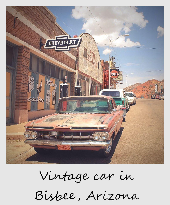Polaroid of the week: Vintage car in Bisbee, Arizona | Bisbee arizona