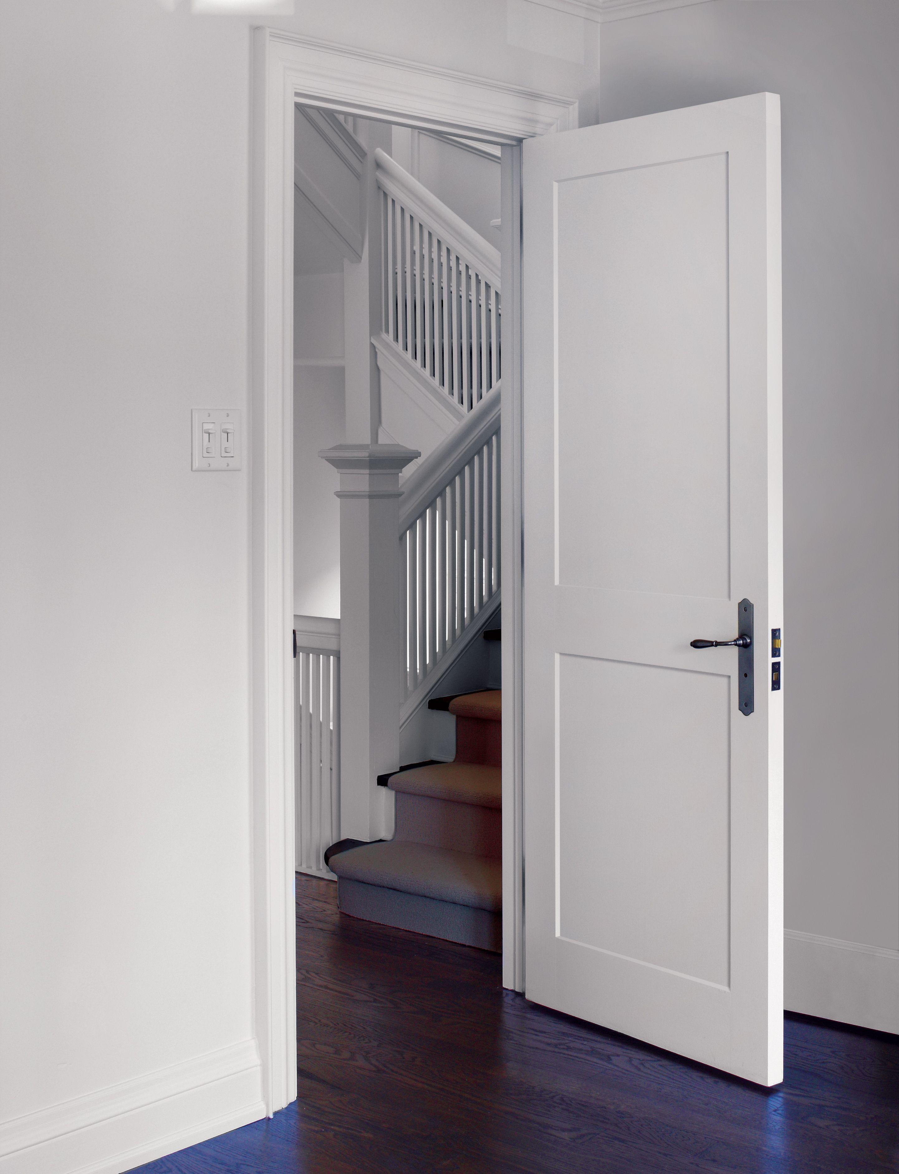 Interior 2 Panel Shaker Door Interior Door Styles Wood Doors