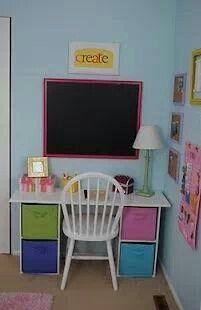 Diy Desk Using Cube Storage Kids Room Girls Bedroom Kids Desk