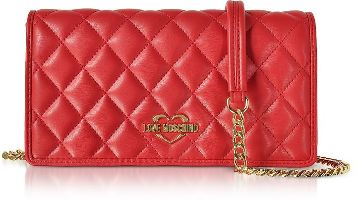 6298d44a78 Love Moschino Red Superquilted Eco-Leather Clutch w/Shoulder Strap  #MoschinoHandbag #Clutch #Purse #Sponsored, #Promotion, #PaidAd, #ad, # CommissionLink