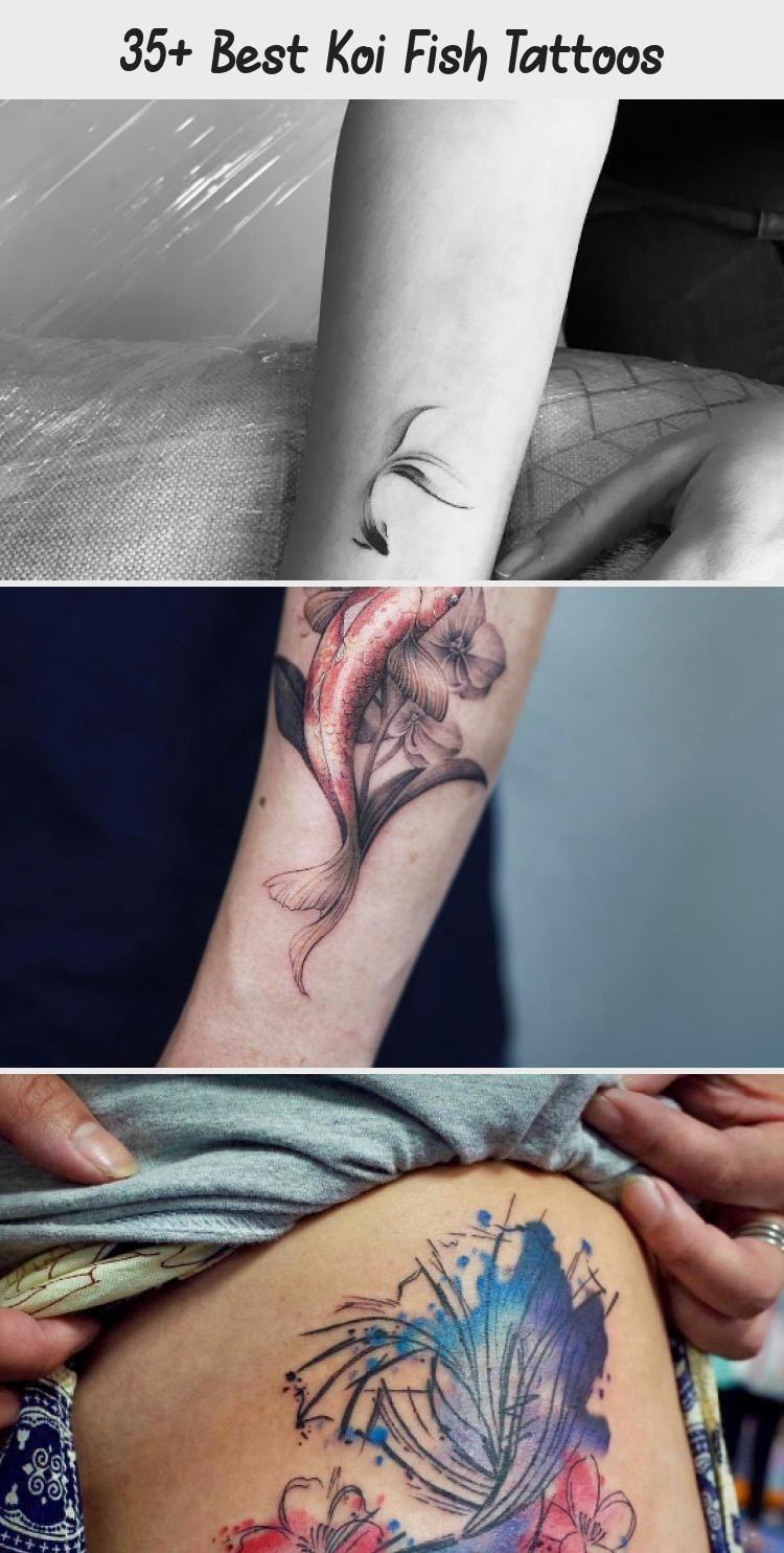 Semi-circular koi fish tattoo by Anastasia Slutskaya