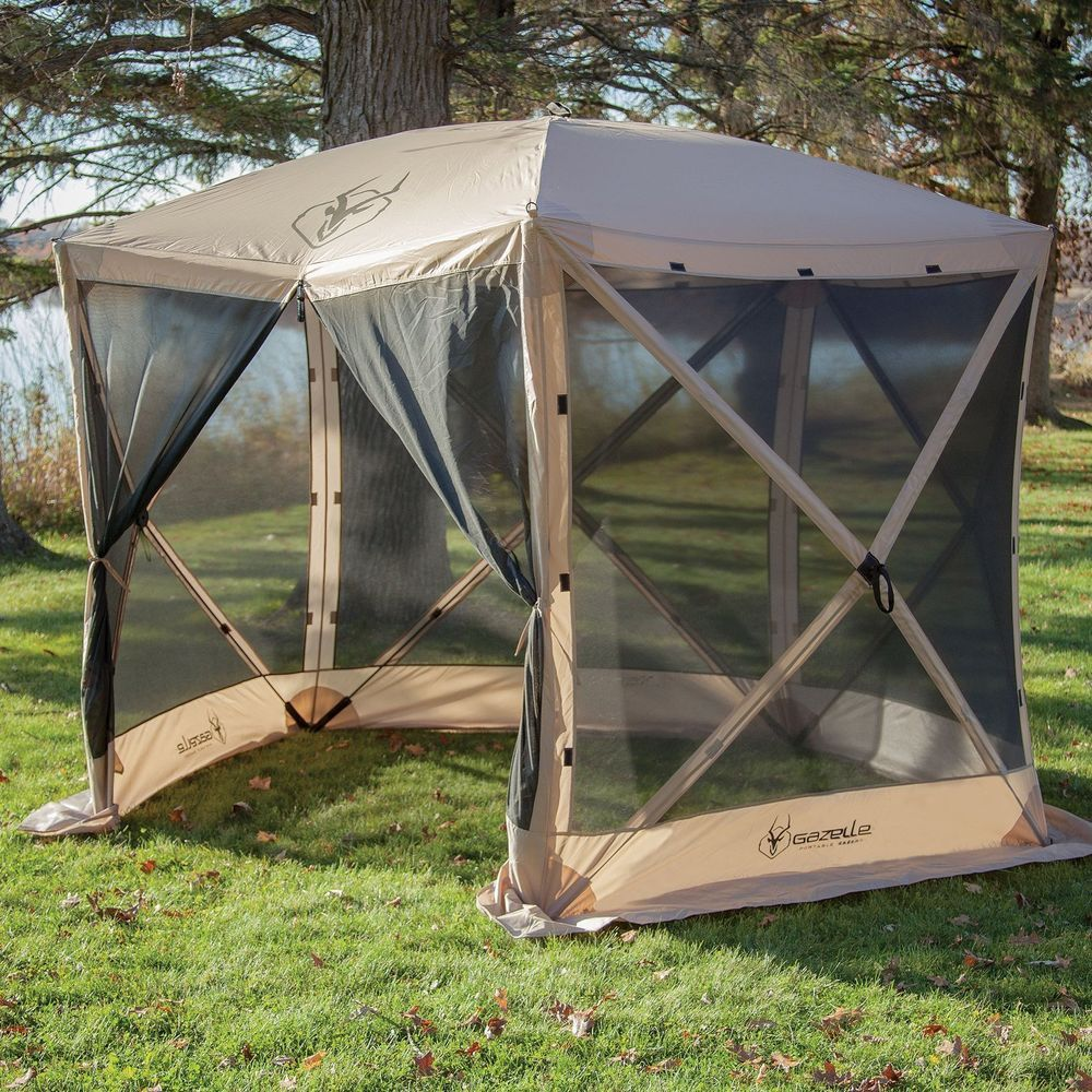 Details About Outdoor Screen House 4 Person Shelter Gazebo 5 Sided