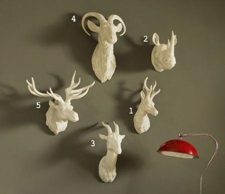 Questionable Trends In Nursery Design Animal Head Decor Ceramic Animals Deer Head Wall Decor