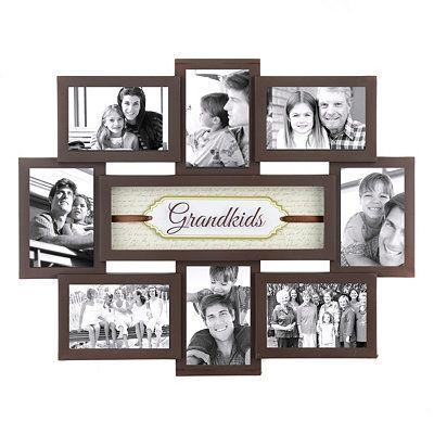 grandkids shadowbox brown collage frame