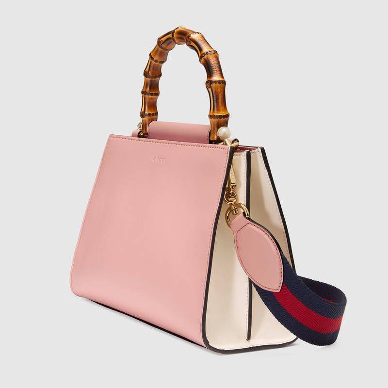 Gucci Nymphaea leather top handle bag  cb5126c44ec9