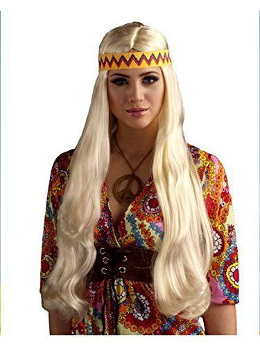 Hippie Chick Blonde Wig with Headband * Want additional info? Click