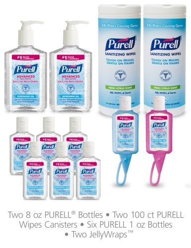 Purell Office Starter Kit Multipack Gel Bottles And Sanitizing