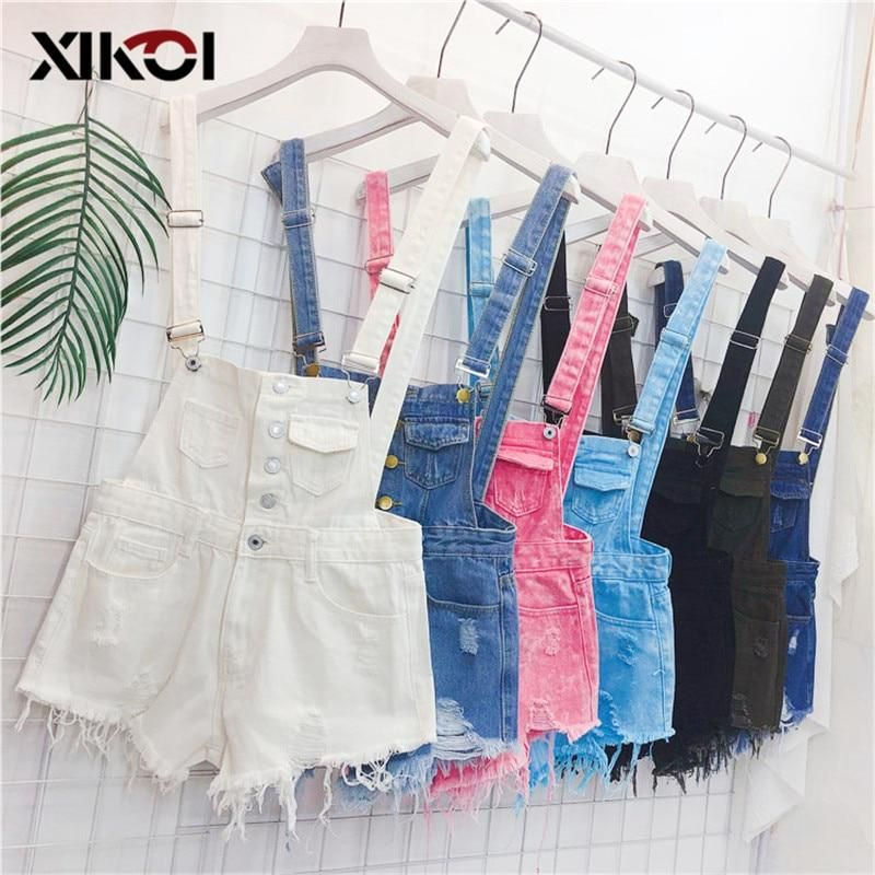 70a6e49bd0ff XIKOI Denim Overalls Women Korean Fashion Jumpsuits Female Denim Playsuit  Cotton Straps Tracksuits Womens High Waist