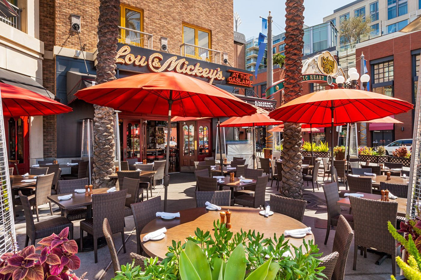 Lou mickey s at the gaslamp san diego patio sign