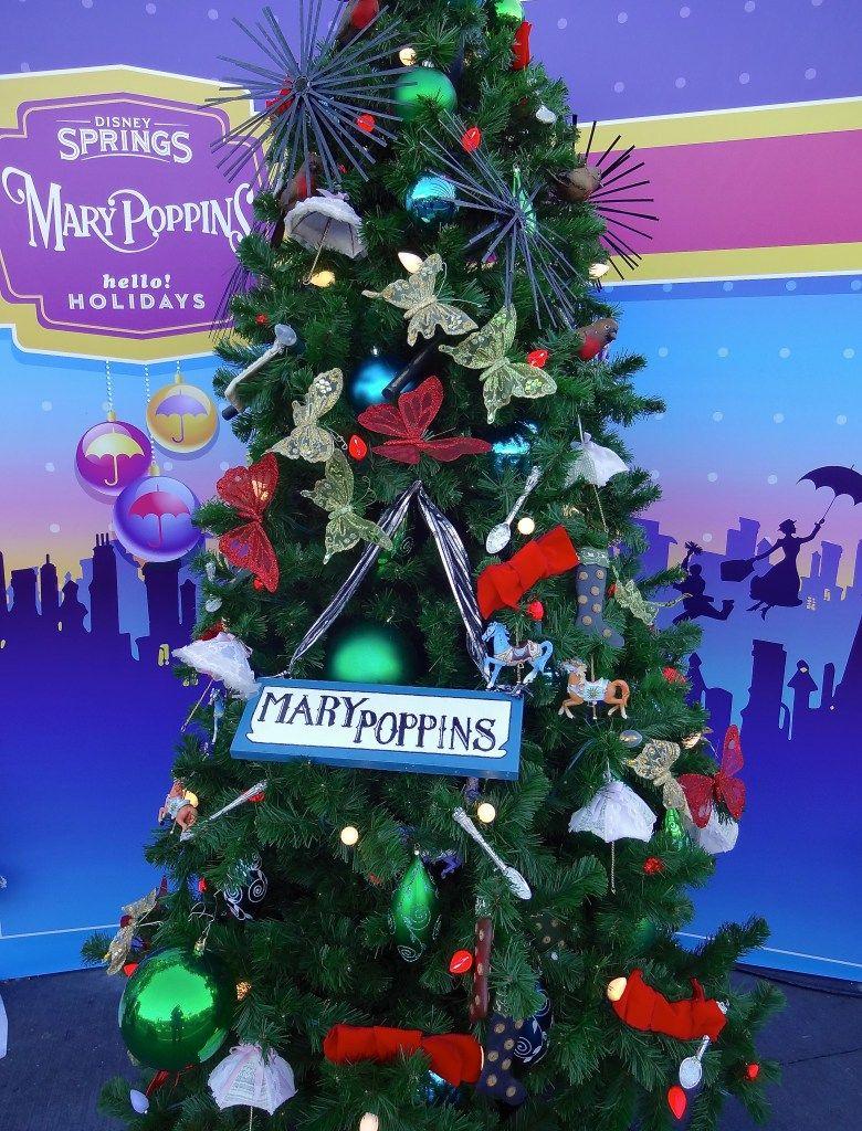 mary poppins themed christmas tree at disney springs christmas tree trail