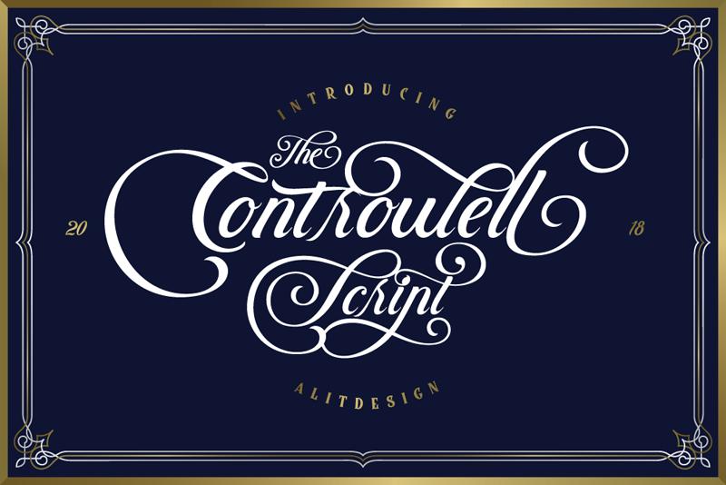 Controwell Script Font Hotel App Fonts