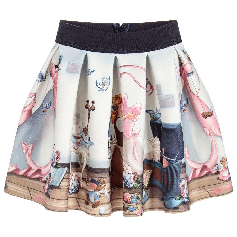 1e3e10c60f59 Girls Disney Print Skirt for Girl by Monnalisa. Discover more beautiful  designer Skirts for kids online