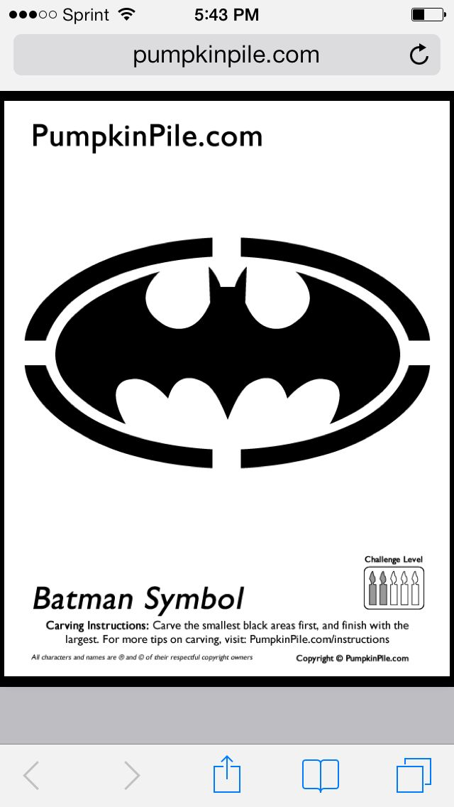 Batman Symbol Pumpkin Stencil Holidays Pinterest Pumpkin