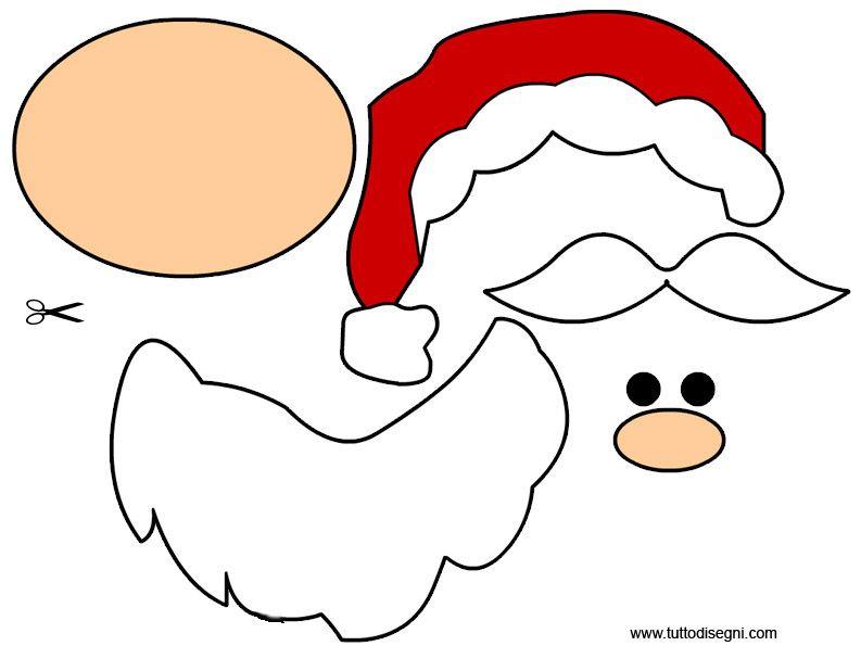 Decorazioni Natale Babbo Natale Da Ritagliare E Incollare
