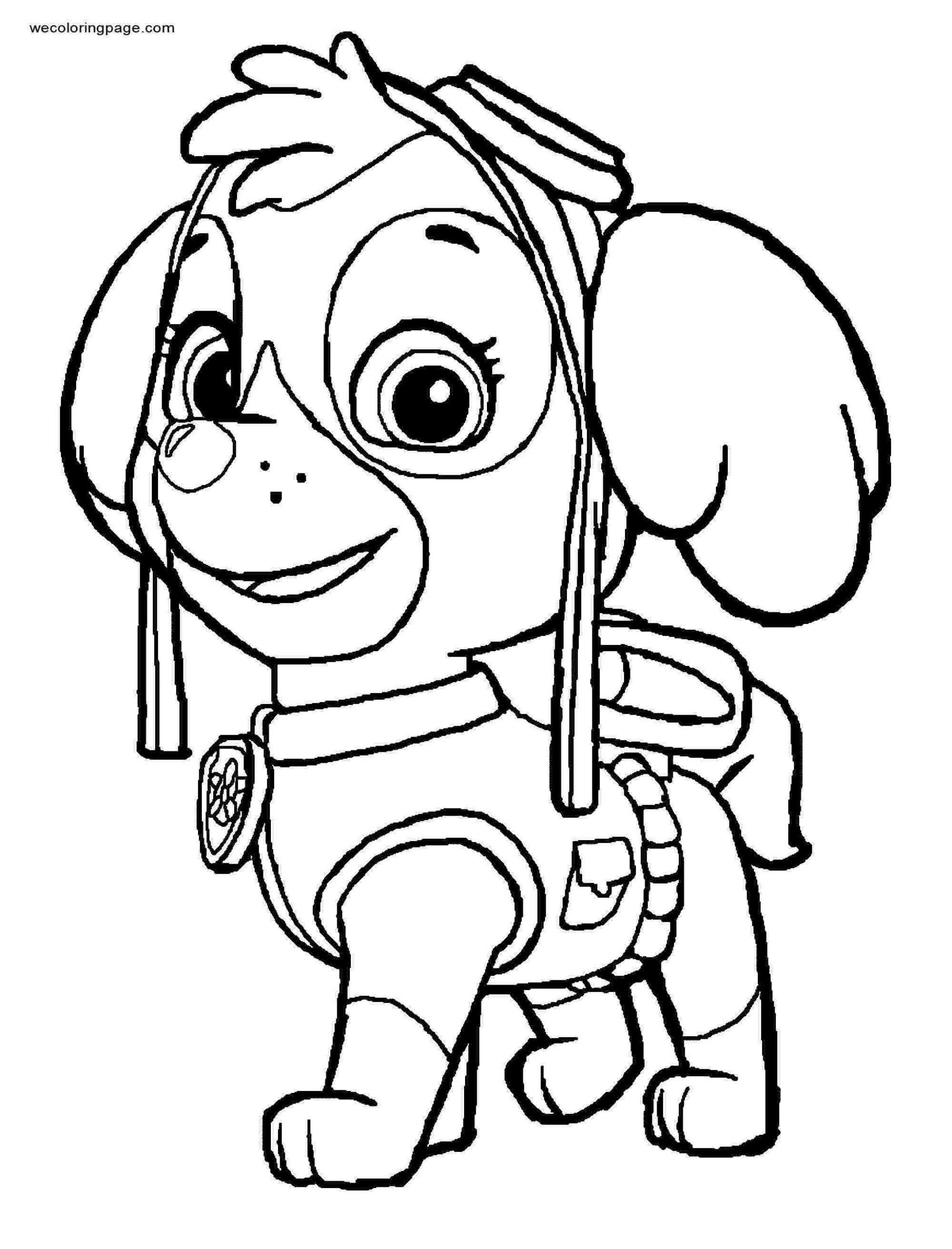 9 paw patrol skye coloring page - coloringpagesinspiration