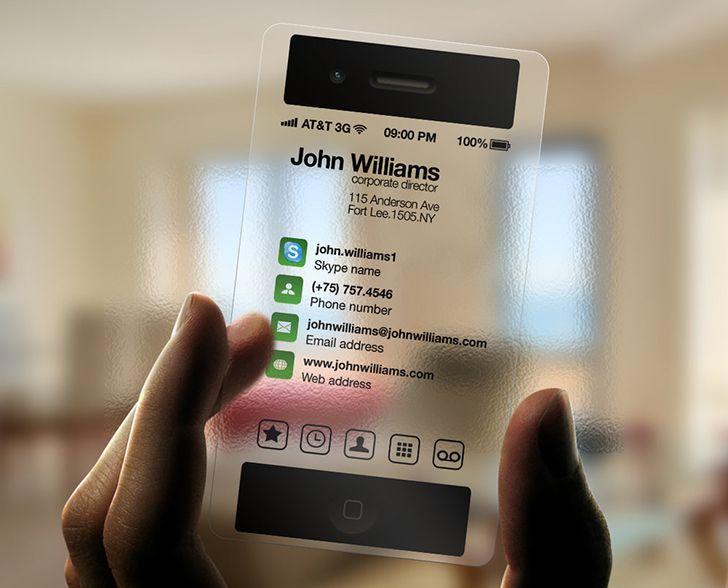 Unique business card transparent iphone design business cards unique business card transparent iphone design reheart Image collections