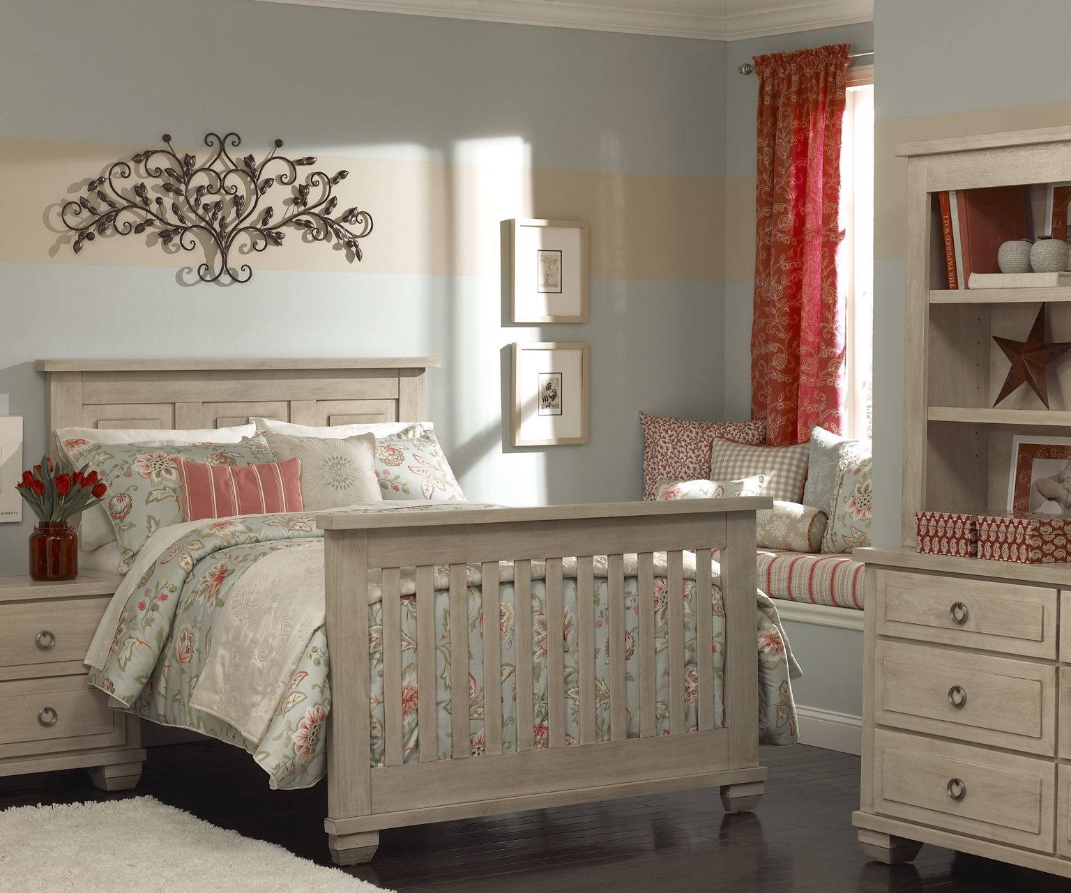 Used crib for sale atlanta - Echelon Sonoma Collection In Driftwood Converted From Crib To Full Size Bed