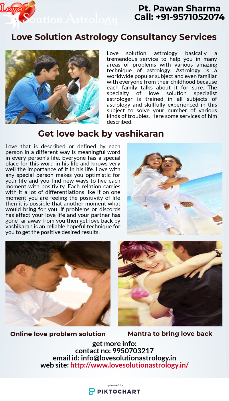 Love Solution Astrology - Love marriage problem solutions specialist